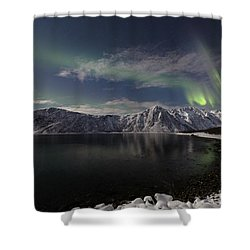 Auroras Over The Bay Shower Curtain