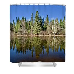 Shower Curtain featuring the photograph Ausable Reflections 1768 by Michael Peychich