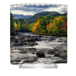 Shower Curtain featuring the photograph Ausable River Jay Ny by Mark Papke