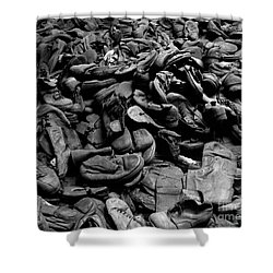 Auschwitz-birkenau Shoes Shower Curtain by RicardMN Photography