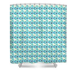 Aussie Dog Pattern Shower Curtain
