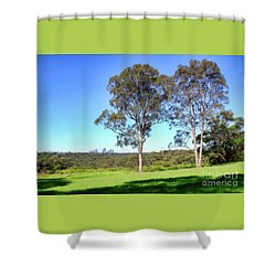 Shower Curtain featuring the photograph Aussie Gum Tree Landscape By Kaye Menner by Kaye Menner