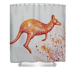 Aussie Roo Shower Curtain