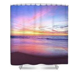 Aussie Sunset, Claytons Beach, Mindarie Shower Curtain by Dave Catley