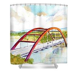 Austin 360 Bridge - Pennybacker Shower Curtain