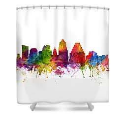Austin Cityscape 06 Shower Curtain by Aged Pixel