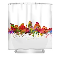 Austin Cityscape 08 Shower Curtain by Aged Pixel