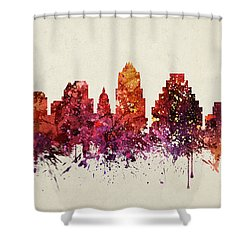 Austin Cityscape 09 Shower Curtain by Aged Pixel