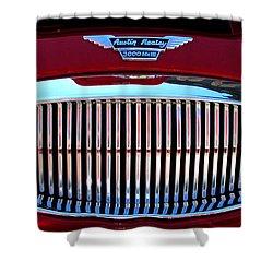 Austin Healey Grille Shower Curtain by Spyder Webb
