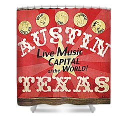 Austin Live Music Shower Curtain by Trish Mistric