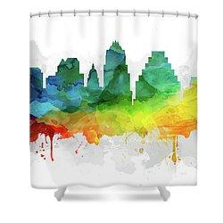 Austin Skyline Mmr-ustxau05 Shower Curtain