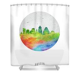 Austin Skyline Ustxau20 Shower Curtain