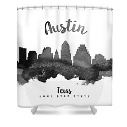 Austin Texas Skyline 18 Shower Curtain by Aged Pixel