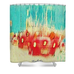 Shower Curtain featuring the photograph Austin Traffic by Barbara Tristan