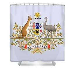 Shower Curtain featuring the drawing Australia Coat Of Arms by Movie Poster Prints