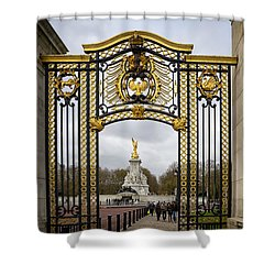 Shower Curtain featuring the photograph Australia Gate Towards Queen Victoria's Statue by Shirley Mitchell