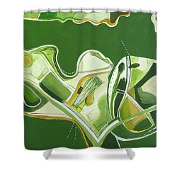 Australia Industrial Shower Curtain by Toni Silber-Delerive