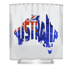 Australian flag shower curtains fine art america australia typographic world map shower curtain gumiabroncs Gallery