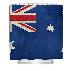 Australian Flag Vintage Retro Style Shower Curtain