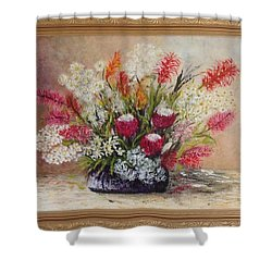Australian Natives Shower Curtain by Renate Voigt