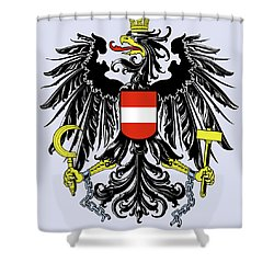 Austria Coat Of Arms Shower Curtain by Movie Poster Prints
