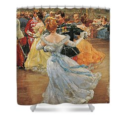 Austria, Vienna, Emperor Franz Joseph I Of Austria At The Annual Viennese Ball  Shower Curtain by Wilhelm Gause