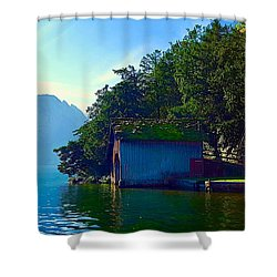 Austrian Alps Shower Curtain