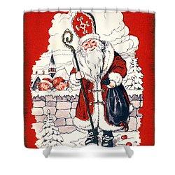 Austrian Christmas Card Shower Curtain by Granger