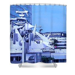 Austrian Sculpture Shower Curtain by Ian  MacDonald