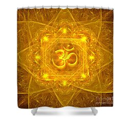 Authentic Om  Shower Curtain