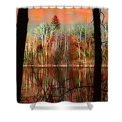 Autmn Waters Shower Curtain