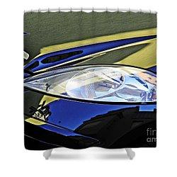Auto Headlight 189 Shower Curtain by Sarah Loft