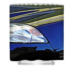 Auto Headlight 190 Shower Curtain by Sarah Loft