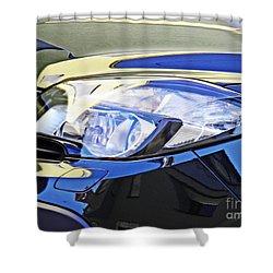 Auto Headlight 191 Shower Curtain by Sarah Loft