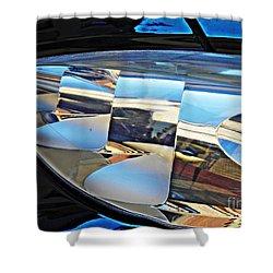 Auto Headlight 193 Shower Curtain by Sarah Loft