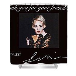 Autographed Portrait  Shower Curtain