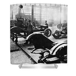 Automobile Manufacturing Shower Curtain by Granger