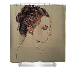 Autoportrait Maja Sokolowska Shower Curtain by Maja Sokolowska
