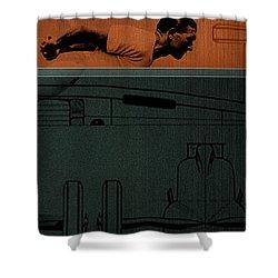 Autounion 1 Shower Curtain by Naxart Studio