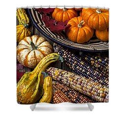 Autumn Abundance Shower Curtain by Garry Gay