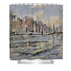 Autumn Along The Amstel In Amsterdam Shower Curtain