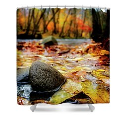 Autumn Along The Oconaluftee River Shower Curtain