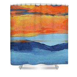 Autumn Alpenglow Shower Curtain