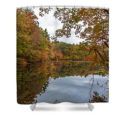 Autumn At Hillside Pond Shower Curtain