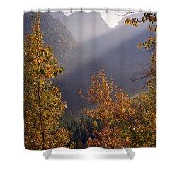 Autumn At Logan Pass Shower Curtain