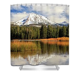 Shower Curtain featuring the photograph Autumn At Mount Lassen by James Eddy