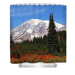 Shower Curtain featuring the photograph Autumn At Paradise by Lynn Hopwood