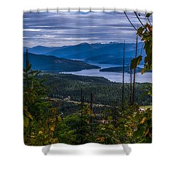 Autumn At Priest Lake Shower Curtain by Yeates Photography