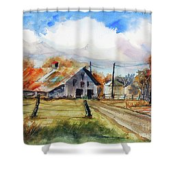 Autumn At The Farm Shower Curtain