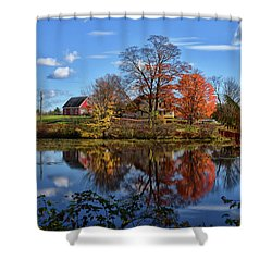 Autumn At The Farm Shower Curtain by Tricia Marchlik